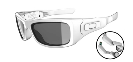 943dae004c587 Óculos de sol Split Thump da Oakley com MP3 player Geek Chic
