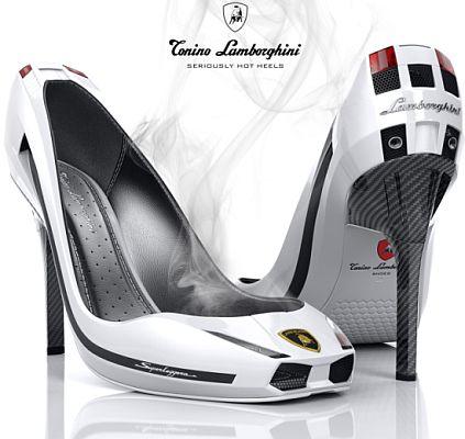 Lamborghini on Sapatos Lamborghini Gallardo Com Salto Alto Com Fibra De Carbono