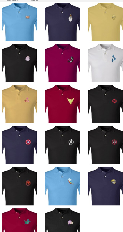 Camiseta polo com logo dos personagens da Marvel 69c1543dd36b6