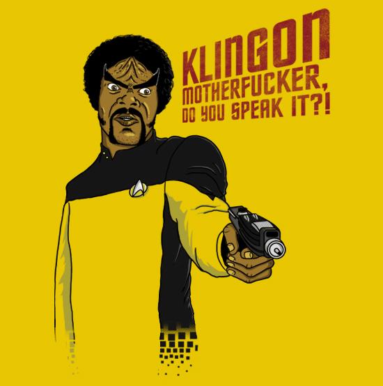 camiseta klingon motherfucker