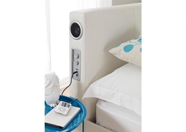 cama com alto-falante