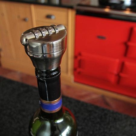 Cadeado para garrafa de vinho