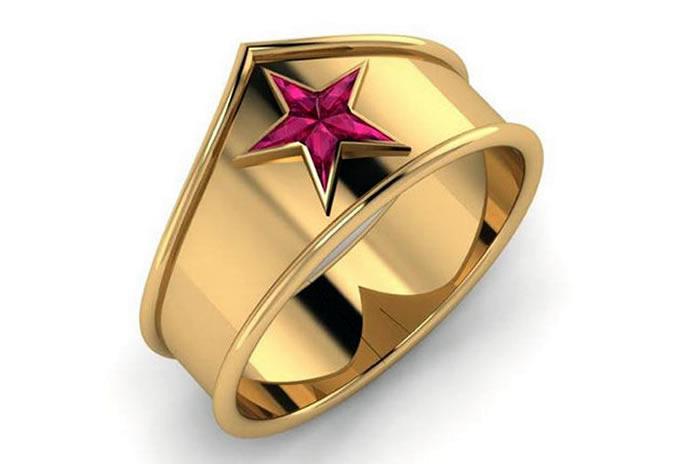 anel da mulher maravilha