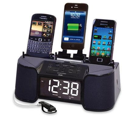 Four Device Charging Clock Radio