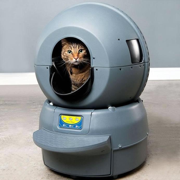 Caixa De Areia Para Gatos Que Limpa Automaticamente