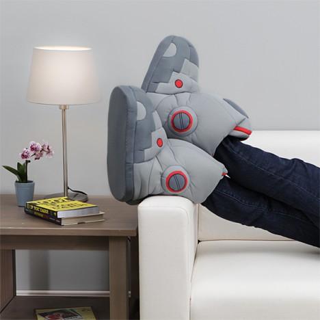 Botas de Robô com efeitos sonoros
