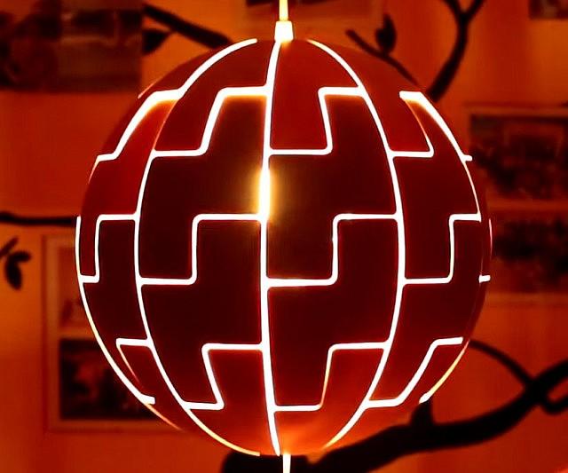 Estrela Da Morte Lumin 225 Ria Star Wars Da Ikea