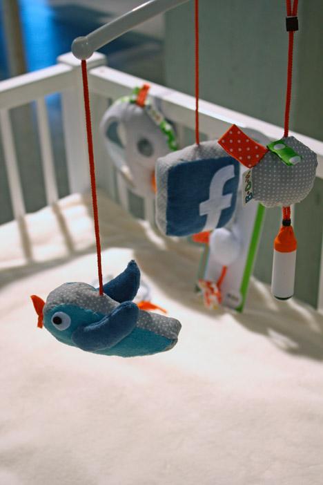 Móbile de redes sociais