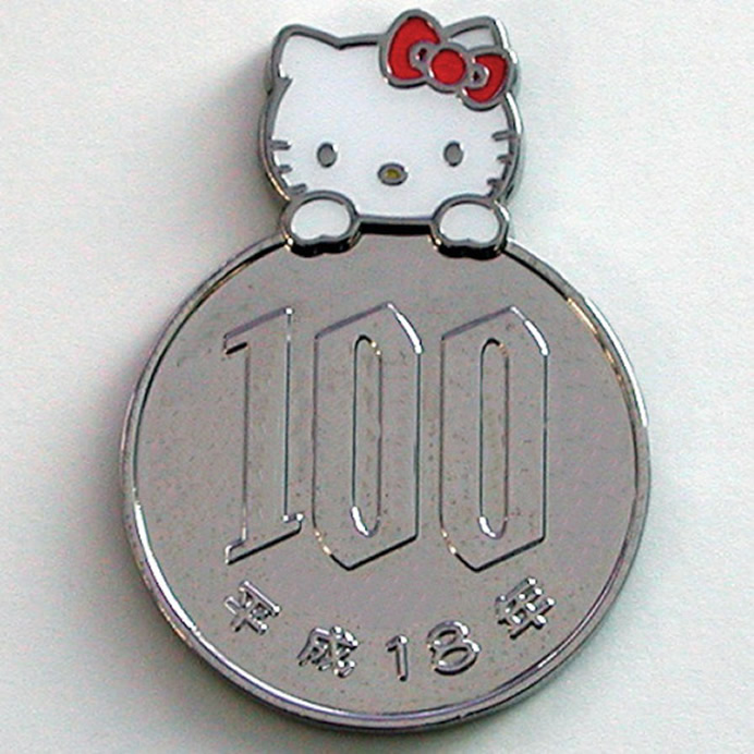 Moedas magnéticas Hello Kitty