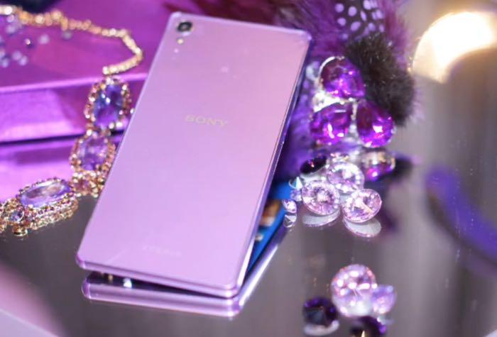 Sony Xperia Z3 Edição Roxo Edição Diamante