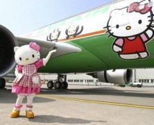 Aviões Hello Kitty na frota da Eva Air